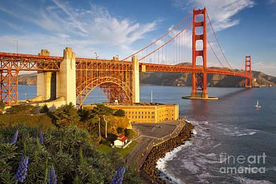Photograph - Above The Golden Gate by Brian Jannsen