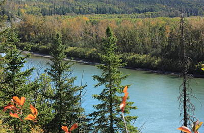 Fall Photograph - Above The River by Jim Sauchyn