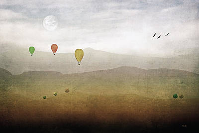 Above The Rolling Hills Art Print by Tom York Images