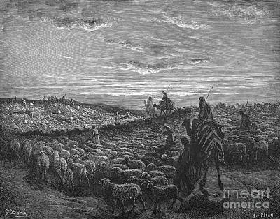 Abraham Entering Canaan Art Print by Granger