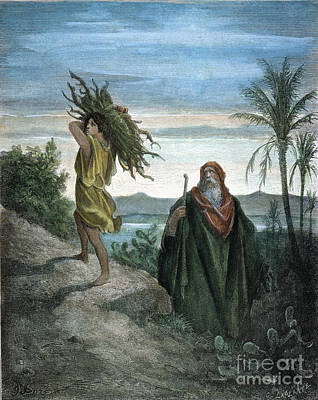 Drawing - Abraham by Gustave Dore