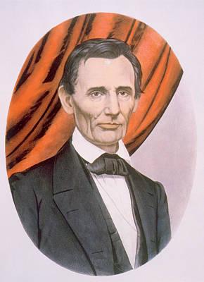 Abraham Lincoln 1809-1865, Lithograph Art Print by Everett