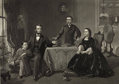 Abraham Lincoln And Family Art Print