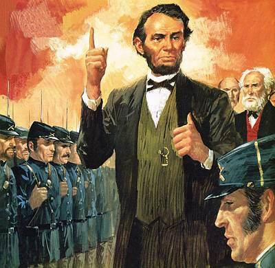 Civil Painting - Abraham Lincoln by English School