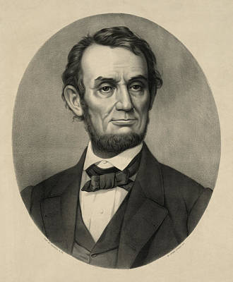 Art Print featuring the photograph Abraham Lincoln Portrait by International  Images