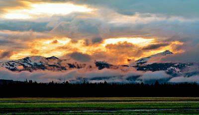 Absaroka Photograph - Absaroka Sunset by Ellen Heaverlo