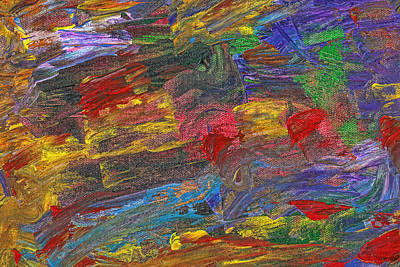 Photograph - Abstract - Acrylic - Anger Joy Stability by Mike Savad