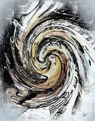 Abstract - Turmoil Art Print by Gerlinde Keating - Galleria GK Keating Associates Inc