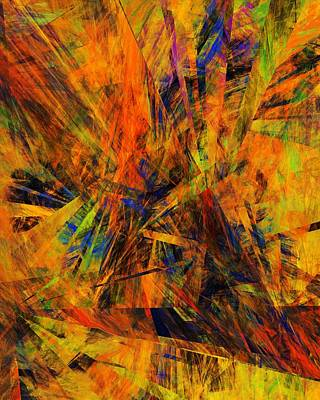 Abstract 100611 Art Print by David Lane