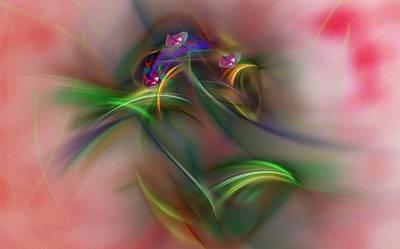 Abstracts Digital Art - Abstract 101211b by David Lane