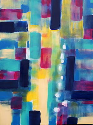 Lively But Commented Painting - Abstract 42 by Sandra Conceicao