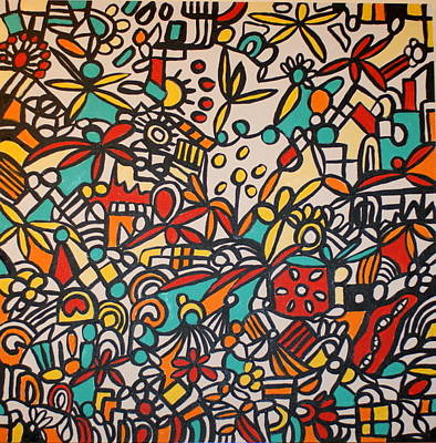 Lively But Commented Painting - Abstract 49 by Sandra Conceicao