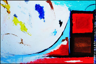 Mixed Media Painting - Abstract  6 by Snake Jagger