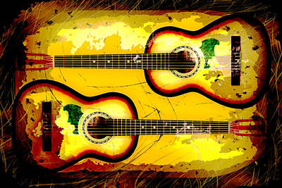 Abstract Acoustic Art Print by David G Paul