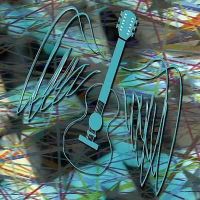 Guitar Photograph - Abstract Air Guitar by Daryl Macintyre