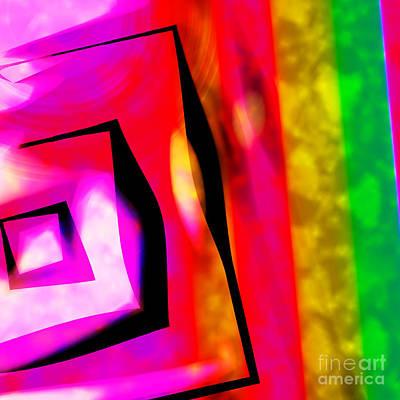 Abstract Angles And Lines Art Print