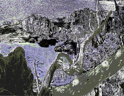 Photograph - Abstract Art - Fallen Tree by Merton Allen