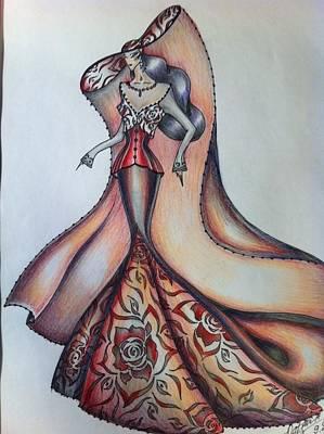 Abstract Fashion Art Drawing - Abstract Art Fashion by Natasha Russu