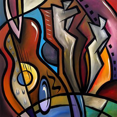Abstract Art Original Painting Ovation Art Print by Tom Fedro - Fidostudio