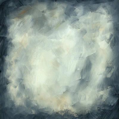 Abstract Art Original Painting Thunderstorm II By Madart Art Print by Megan Duncanson
