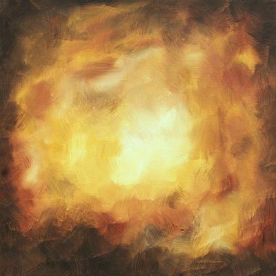 Abstract Art Original Painting Thunderstorm IIi By Madart Art Print by Megan Duncanson