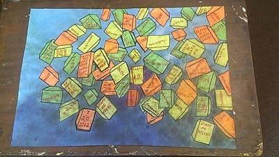 Olokun Painting - Abstract Boxes by Jonathon Hansen