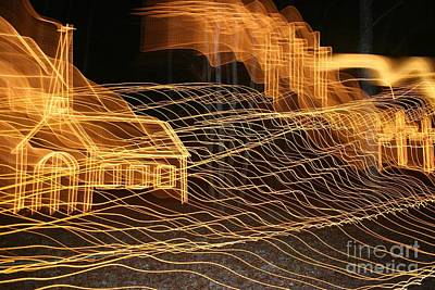 Christmas Photograph - Abstract Christmas Lights Dec 2008-04 by Sherrie Winstead