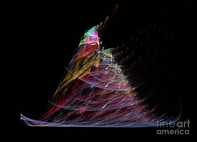 Digital Art - Abstract Christmas Tree 1 by Russell Kightley