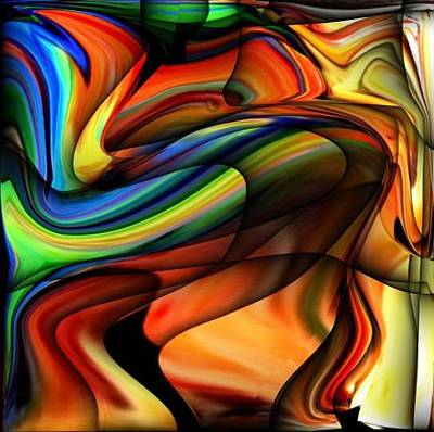 Digital Art - Abstract Colorful Unique Swirl by Teo Alfonso