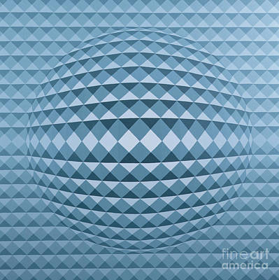 Op Art Painting - Abstract Composition by Peter Szumowski
