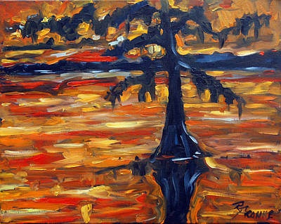 New Orleans Oil Painting - Abstract Cypress By Prankearts by Richard T Pranke