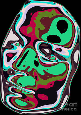 Face Digital Art - Abstract Face 11 by Chris Butler