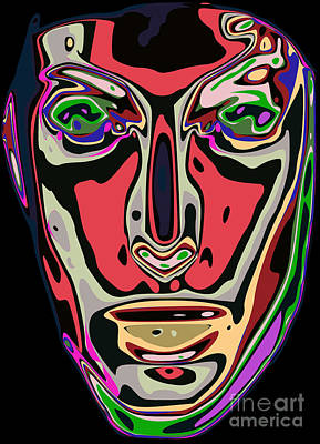 Shapes Digital Art - Abstract Face 13 by Chris Butler