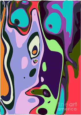 Face Digital Art - Abstract Face 7 by Chris Butler