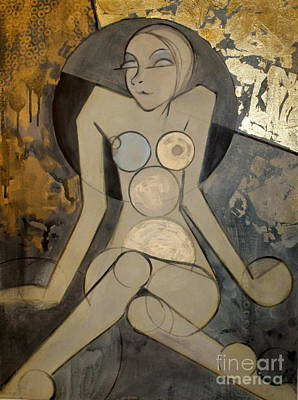 Painting - Abstract Female Nude 2 by Joanne Claxton