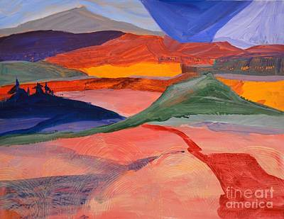 Abstract Fields Art Print by Barbara Tibbets