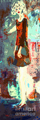 Abstract Figure The Odd Girl By Ginette Art Print by Ginette Callaway