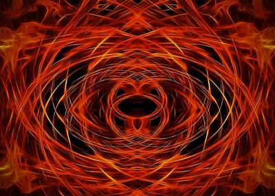 Digital Art - Abstract Fire by Ricky Barnard