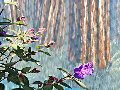Art Print featuring the photograph Abstract Floral by Jo Sheehan