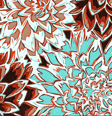 Abstract Flower 17 Print by Sumit Mehndiratta
