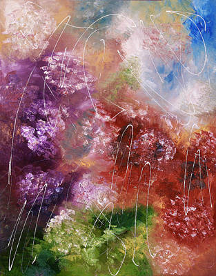 Abstract Flower Color Splash Original by Rabia Adil
