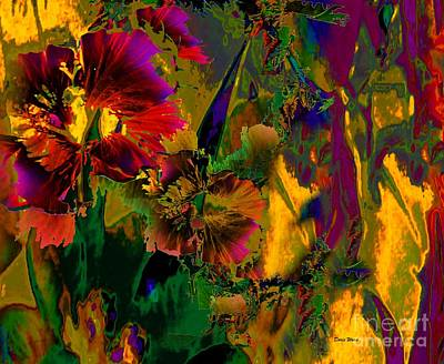 Digital Art - Abstract Flowers by Doris Wood