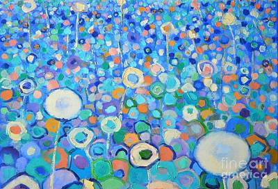 Abstract Flowers Field Print by Ana Maria Edulescu