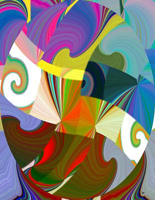 Digital Art - Abstract Fusion 24 by Will Borden