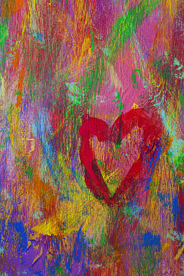 Mess Photograph - Abstract Heart by Garry Gay