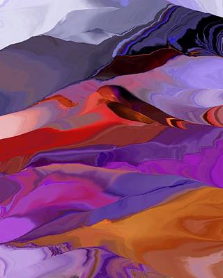 Digital Art - Abstract Hills And Mountains 121611 by David Lane