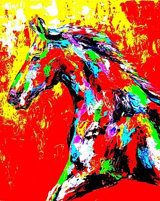 Obriens Painting - Abstract Horse by Mike OBrien
