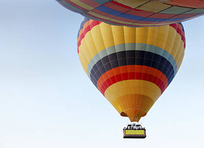 Collision Of Interests Photograph - Abstract Hot Air Balloons by Kantilal Patel