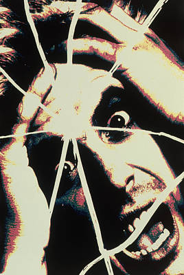 Abstract Image Of Man With Shattered Personality Art Print by Victor De Schwanberg
