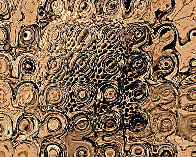 Abstract In Brown Art Print